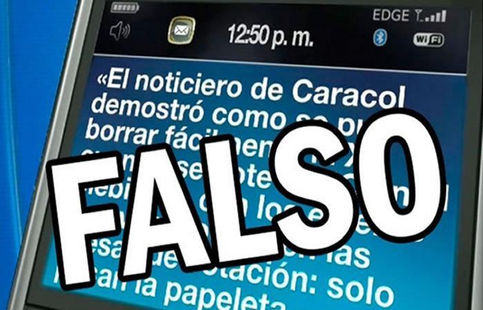 Circula falso mensaje de texto sobre plebiscito