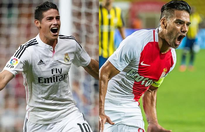 James y Falcao ganaron en la Champions League