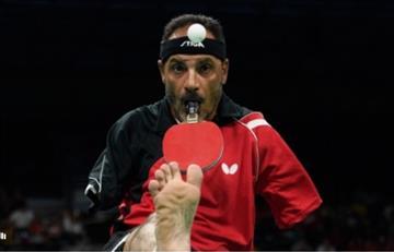 VIDEO: Egipcio sin brazos juega tenis de mesa en Río 2016