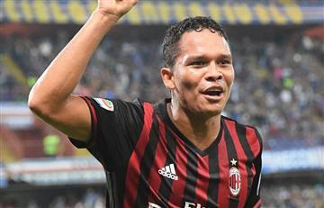 Carlos Bacca le dio la victoria al Milán