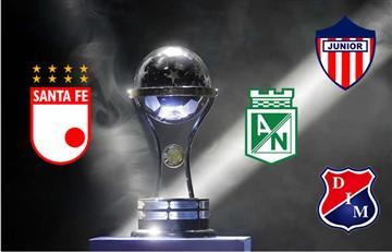 Nacional, Santa Fe, Medellín y Junior ya conocen sus rivales en octavos