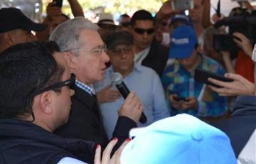 VIDEO: Uribe a los gritos contra una multitud en Pereira