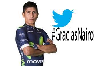 Nairo Quintana: En Twitter la gente le agradece al ídolo colombiano