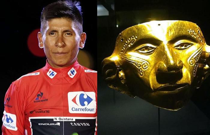 Banco de la República compara a Nairo Quintana con máscara indígena
