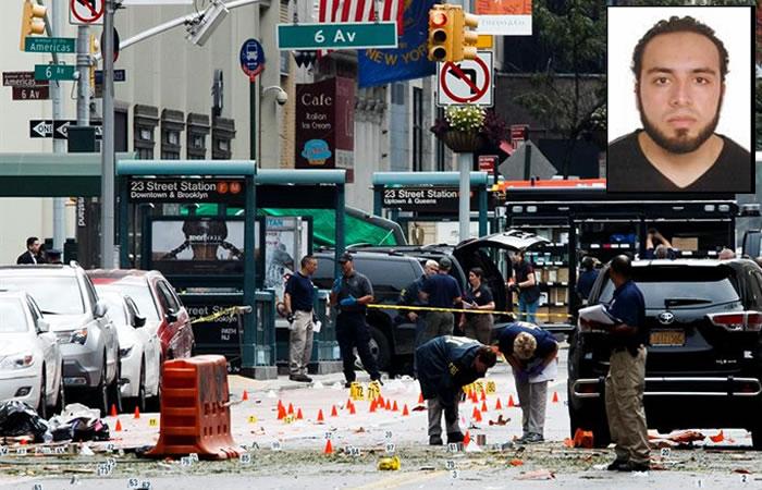 Policía de Nueva York identifica a sospechoso de explosiones en EE.UU.