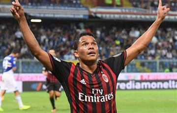 Carlos Bacca anotó de nuevo con el Milán