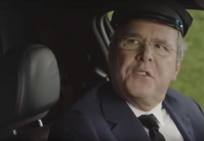 Jeb Bush de precandidato presidencial a conductor de Uber