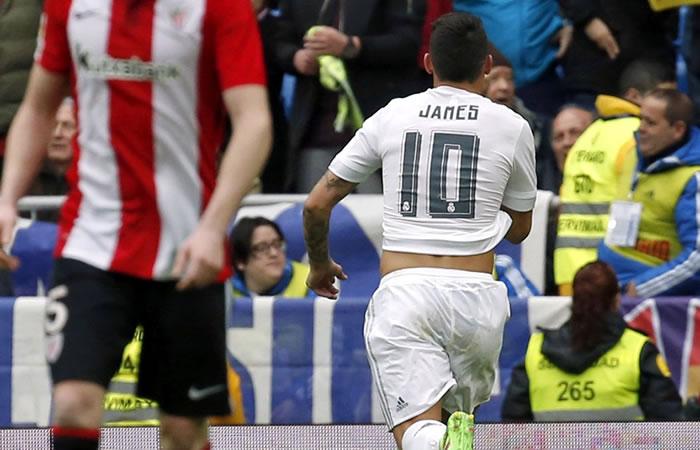 James Rodríguez jugó todo el partido pero al Madrid no le alcanzó