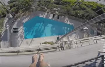 Youtuber protagoniza un peligroso salto a una piscina