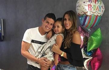 James Rodríguez y Salomé celebran el cumpleaños de Daniela Ospina