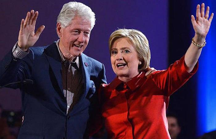 Bill y Hillary Clinton. Foto: EFE