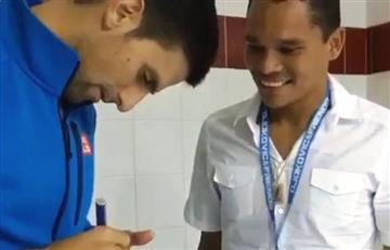 VIDEO: El detalle de Djokovic con Carlos Bacca