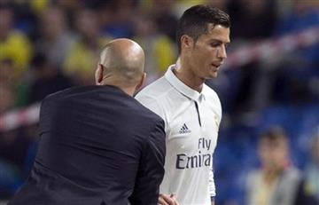 Cristiano Ronaldo enfurecido al ser sustituido