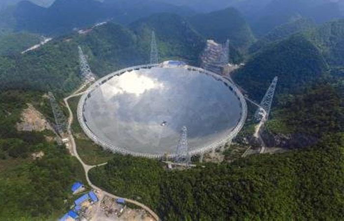China pone en marca radiotelescopio más grande. Foto: EFE