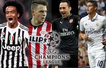 Champions League: ocho colombianos jugarán en la segunda jornada