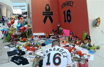 Homenaje a José Fernández en el triunfo de los Marlins