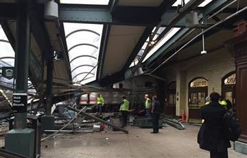 Un tren se accidentó en Nueva Jersey