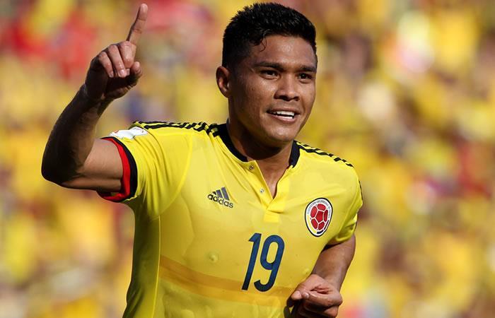 Teófilo Gutiérrez se lesionó y no podrá estar con la Selección Colombia
