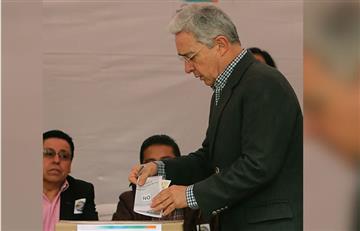 Álvaro Uribe y César Gaviria ya votaron por el plebiscito