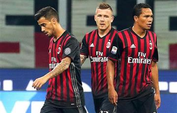 Carlos Bacca hizo gol en la increíble remontada del Milán