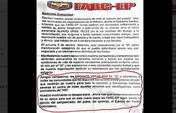 """Plebiscito: En Putumayo las Farc exigen votar por el """"Sí"""""""