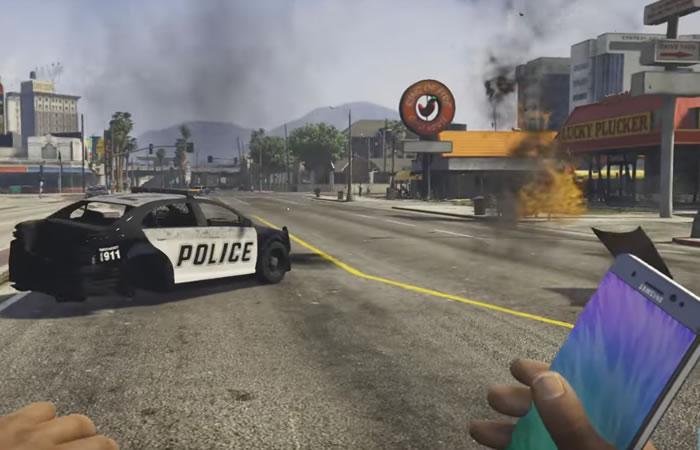 Galaxy Note 7: Grand Theft Auto V incorpora el móvil como explosivo