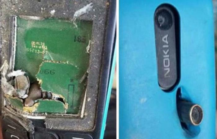 Nokia detiene una bala salvando la vida de su propietario