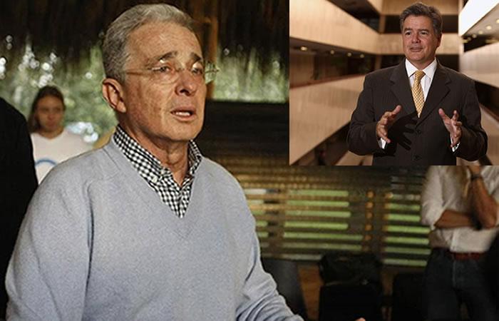 Álvaro Uribe y Juan Carlos Vélez. Foto: EFE