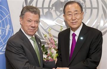 """BanKi-Moon asegura que Colombia no """"puede dar marcha atrás"""""""