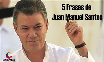 Juan Manuel Santos: Cinco frases del Nobel de Paz