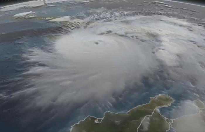 NASA publica extraordinarias imágenes 3D del huracán Matthew