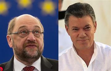 """Presidente del Parlamento Europeo asegura queNobel de Santos es""""merecido"""""""