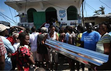 Haití declara tres días de luto por el huracán Matthew