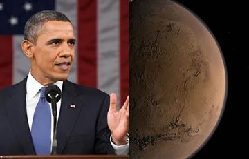 Obama quiere enviar humanos a Marte
