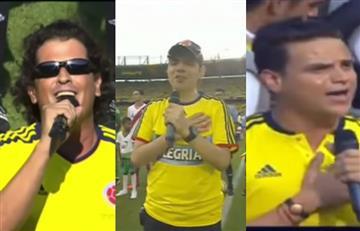 Selección Colombia: así les fue a los artistas cantando el himno