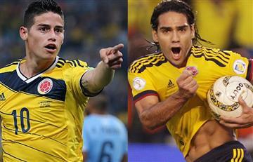 James Rodríguez y Falcao García también apoyaron a la Selección Colombia