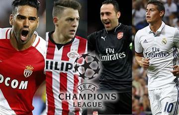 Champions League: Así jugarán los colombianos