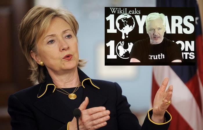 WikiLeaks revela secretos que comprometen a Hillary Clinton