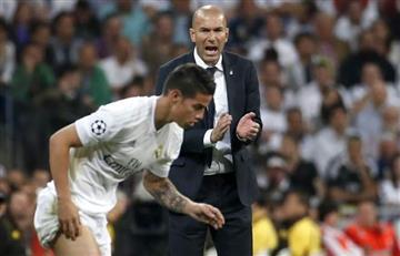 James Rodríguez es elogiado por Zinedine Zidane
