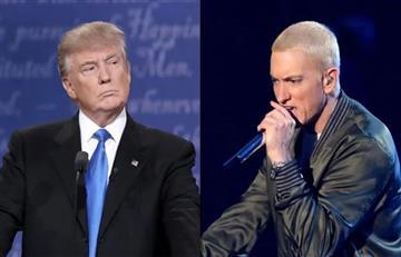Donald Trump: Eminem arremete contra el candidato republicano