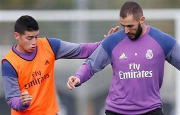 ¿James Rodríguez bailando con Karim Benzema?