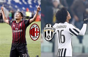 Transmisión: Milan vs. Juventus el clásico que enfrenta a Bacca y Cuadrado