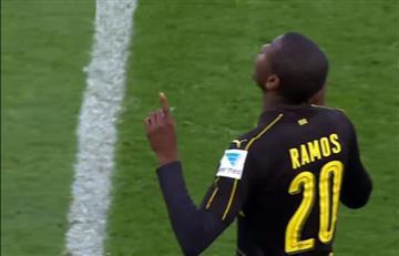 Adrián Ramos volvió a jugar con el Dortmund y anotó