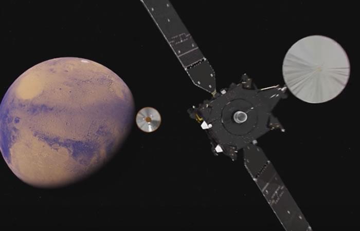 ExoMars no aterriza con éxito en Marte. Foto:Youtube