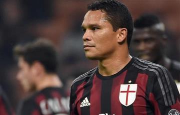 Carlos Bacca de titular y AC Milan perdió ante el Genoa