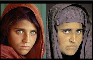 Detienen a la niña afgana de National Geographic en Pakistán