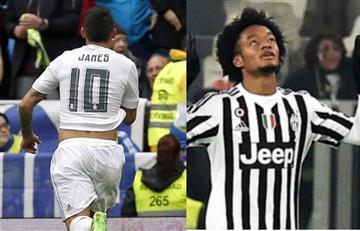James Rodríguez y Juan Guillermo Cuadrado figuras con el Madrid y la Juventus