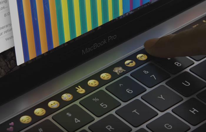 Apple: Nuevo MacBook Pro trae barra táctil en el teclado