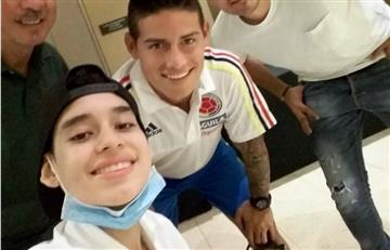 Mateo falleció pero logró cumplir su sueño, conocer a James Rodríguez