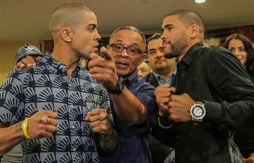 Youtube: Boxeadores se agarran a golpes en rueda de prensa